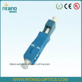 LC Blauw Met beperkte verliezen van de Adapters 0.2dB van de vezel het Optische Plastic