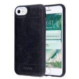 Caso protetor abundante da parte traseira TPU do couro da caixa da carteira de C&T com o caso da tampa da tecnologia da proteção da ranhura para cartão RFID universal para o iPhone 6 6s & o iPhone 7
