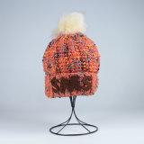 Les filles POM tricoté par Tami POM des enfants de violation chauffent le chapeau de Beanie de Skullies de chapeaux de l'hiver (HW606)