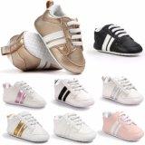 新生の男の子の女の子の柔らかい唯一の幼児Prewalkerの幼児のスニーカーの靴