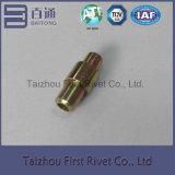 klinknagel van de Speld van het Einde van het Staal van de Kleur van het Zink van 10.3X26.3mm de Tubulaire