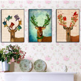 Cuadro animal de la pared de la pintura al óleo de HD para la decoración casera