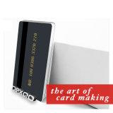 O costume imprimiu o cartão pagado antecipadamente Cr80 do PVC da listra magnética com painel do risco