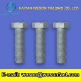 Boulon lourd et noix Hex de la pente DIN933 8.8 galvanisés