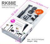 Botón Momopod Rk88e (OM-RK88E) del zumbido del paquete de los kits de Monopod Selfie del palillo de Bluetooth Selfie
