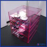 Organisateur acrylique de renivellement de rangée faite sur commande du rose 5 de la Chine Manfuacturer