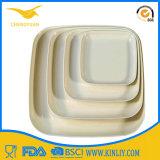 Plaques en plastique de restaurant d'impression de mélamine faite sur commande bon marché de dîner