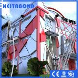 el panel compuesto de aluminio del uso de 3m m 4m m 5m m del revestimiento 6m m al aire libre de la pared