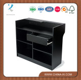 Black Ledge Top Register Stand com gaveta