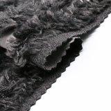 Tessuto di nylon elaborato delle lane con pelliccia per il cappotto delle donne