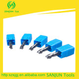 2 Snijder van de Draaibank van het Hulpmiddel van de Molen 6mm/Carbide van het Eind van de fluit de Standaard Scherpe