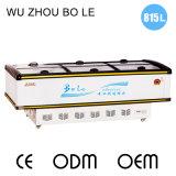 Congelador da lavanderia da porta deslizante do indicador do Showcase com luz do diodo emissor de luz