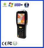 3G raboteux PDA tenu dans la main androïde avec l'imprimante thermique