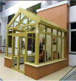알루미늄 프레임에 의하여 부드럽게 하는 박판으로 만들어진 유리 정원 온실 일광실