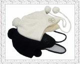 6 línea de costura sombrero hecho punto Earflap de la gorrita tejida con el interior del paño grueso y suave (1-3556)