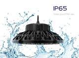 Lumière industrielle de compartiment élevé d'UFO DEL de l'intense luminosité IP65 100W