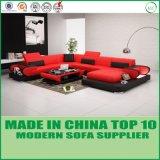 Sofá moderno da forma do couro genuíno U da sala de visitas