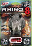 Capsula sessuale maschio del rinforzatore del platino 8000 di rinoceronte 8 genuina