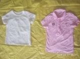 Preiswerter Preis-schließen kleine Ballen-Damen Hülsen-T-Shirt verwendete Kleidung verwendete kleidende Sahne kurz