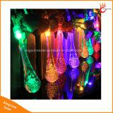 A luz solar da corda da gota 20/30LED da água para o festival do Natal decora