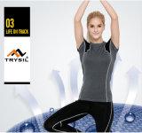 Износ йоги рубашки обжатия тенниски пригодности повелительниц