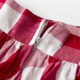 最新の女性のスカートの白黒明白な格子縞のマキシの傘のスカート
