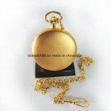 Or mécanique de chaîne de montre Pocket de cas en laiton de qualité plaqué
