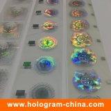 Carimbo quente da folha holograma 3D feito sob encomenda da Anti-Falsificação do 2D