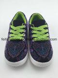 カスタマイズされた工場子供のキャンバスの注入の靴、子供の偶然靴卸しで(FFHH-092606)