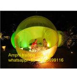 Barraca inflável transparente de acampamento ao ar livre da bolha de 2 pessoas