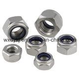 중국 스테인리스 나사 304 DIN 6924에서 나일론 삽입 로크 너트 공장