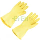 Troep van de Handschoenen van de Hand van de Handschoen van het Huishouden van het latex voerde de Populaire Rubber Alle RubberHandschoenen van de Keuken van Kleuren