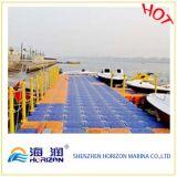 Jachthafen-sich hin- und herbewegender Ponton mit Blasformen-Würfel