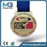 Médaille bon marché personnalisée en métal de sport de Shool de récompense avec le placage à l'or