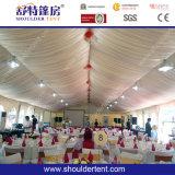 Tente de mariage en plein air avec plancher, doublure, rideau et éclairage
