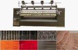 La velocidad asegura la alta producción, tela que plisa la maquinaria