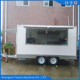 Carro eléctrico móvil del alimento para la venta con la cabina de la puerta deslizante