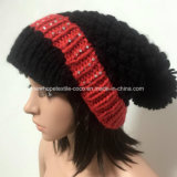 100% Исландия Шерсть, Hat Hand Made моды вязаные предметы Женская помпоном / Peak / руна