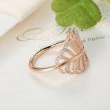 925 Sterling Silver Light como um anel de pena Rose & Clear CZ dedo anelar para mulheres casamento de moda autêntico anel de jóias finas