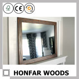 Moldura de espelho de banho de madeira preto e moderno para banheiro do hotel