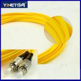 FC光ファイバパッチケーブルの黄色へのシンプレックス単一モードFC 3メートル