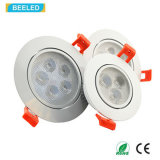Blanco caliente de Dimmable de la luz del punto de la alta calidad 3W LED Downlight Epistar de RoHS del Ce