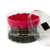 Contenitore rotondo acrilico di fiore di alta qualità da vendere