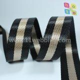 Webbing Striped фальшивки полиэфира Nylon для плечевого ремня вспомогательного оборудования мешка