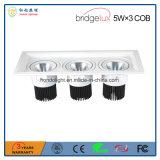 Bridgeluxの穂軸5W× 保証3年のの3つの3ヘッドLED天井ランプ