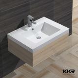 Самомоднейший белый твердый поверхностный каменный тазик мытья ванной комнаты (B1610185)