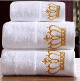信頼できる品質の100%年の綿の明白で白いホテル手タオル
