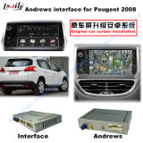 Video interfaccia di percorso Android per Peugeot 208, 2008, 308, 408, (percorso di tocco di aggiornamento 508 del SISTEMA di MRN), WiFi, Mirrorlink, programma di Google,