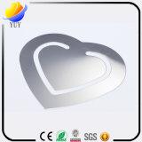 Figura del cuore del metallo dell'acciaio inossidabile e segnalibro rettangolare