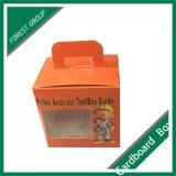 Caja de cartón de empaquetado de encargo del precio bajo con la maneta